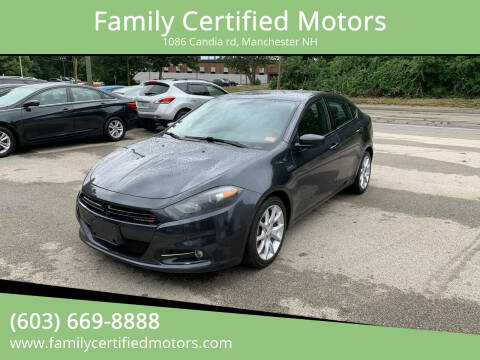 2013 Dodge Dart for sale at Family Certified Motors in Manchester NH