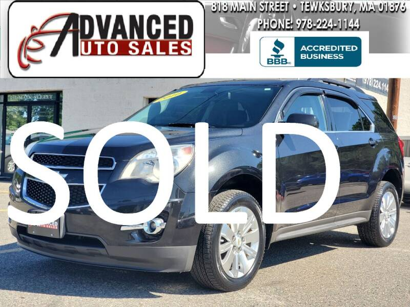 2010 Chevrolet Equinox for sale at Advanced Auto Sales in Dracut MA