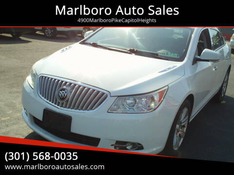 2011 Buick LaCrosse for sale at Marlboro Auto Sales in Capitol Heights MD