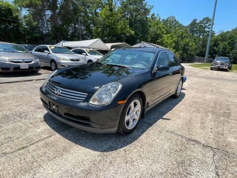 2004 Infiniti G35 for sale at AUTO WOODLANDS in Magnolia TX