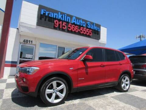 2017 BMW X3 for sale at Franklin Auto Sales in El Paso TX