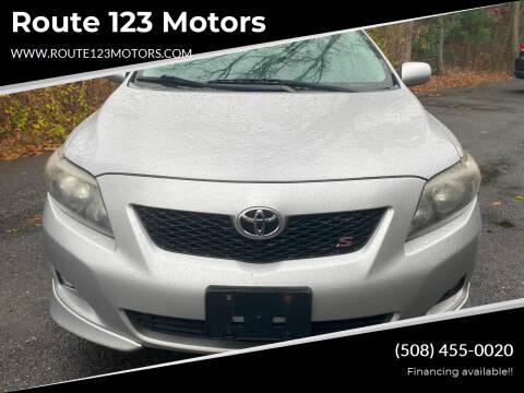 2009 Toyota Corolla for sale at Route 123 Motors in Norton MA
