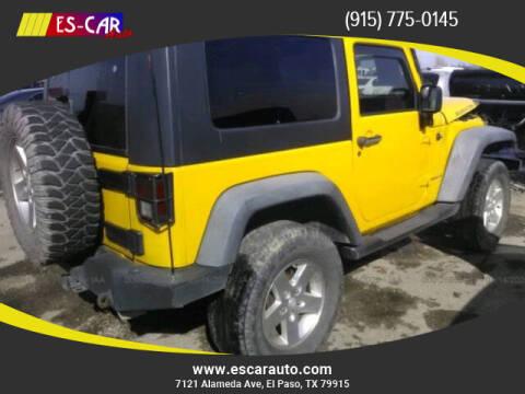 2008 Jeep Wrangler for sale at Escar Auto in El Paso TX
