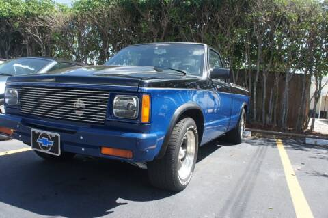 1987 Chevrolet S-10 for sale at Dream Machines USA in Lantana FL