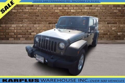2018 Jeep Wrangler JK Unlimited for sale at Karplus Warehouse in Pacoima CA