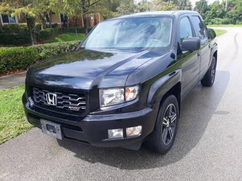 2014 Honda Ridgeline for sale at LAND & SEA BROKERS INC in Deerfield FL