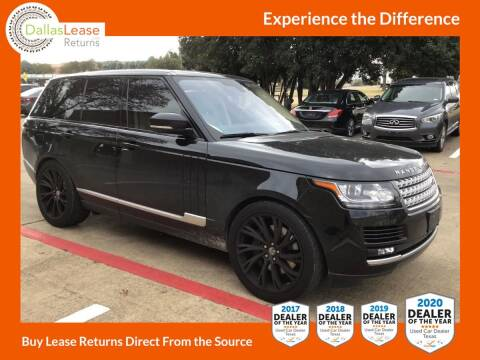 2016 Land Rover Range Rover for sale at Dallas Auto Finance in Dallas TX