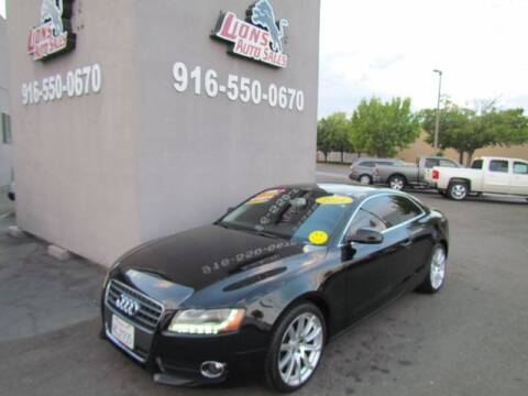 2011 Audi A5 for sale at LIONS AUTO SALES in Sacramento CA