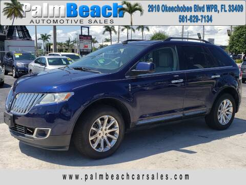 2011 Lincoln MKX for sale at Palm Beach Automotive Sales in West Palm Beach FL