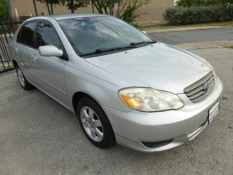 2004 Toyota Corolla for sale at Manny G Motors in San Antonio TX