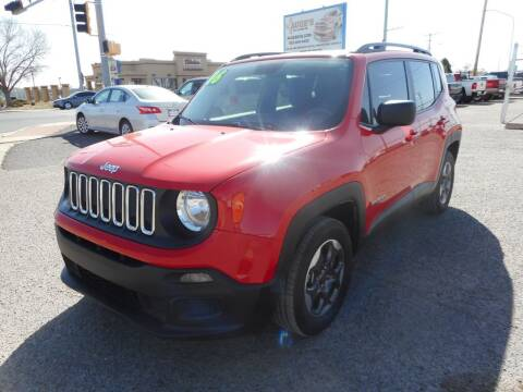 2016 Jeep Renegade for sale at AUGE'S SALES AND SERVICE in Belen NM
