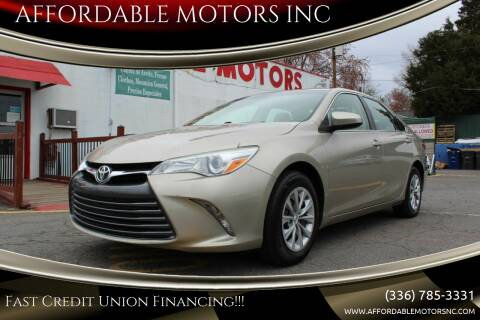 2015 Toyota Camry for sale at AFFORDABLE MOTORS INC in Winston Salem NC