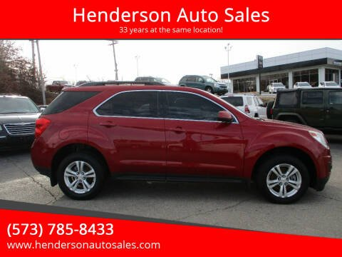 2013 Chevrolet Equinox for sale at Henderson Auto Sales in Poplar Bluff MO