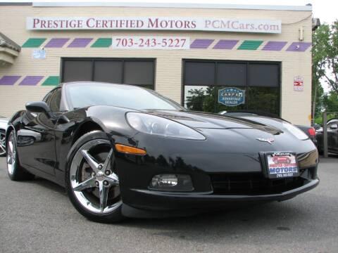 2011 Chevrolet Corvette for sale at Prestige Certified Motors in Falls Church VA