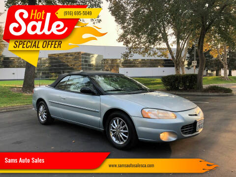 2003 Chrysler Sebring for sale at Sams Auto Sales in North Highlands CA