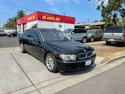 2003 BMW 7 Series for sale at 3K Auto in Escondido CA