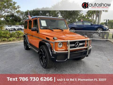 2017 Mercedes-Benz G-Class for sale at AUTOSHOW SALES & SERVICE in Plantation FL
