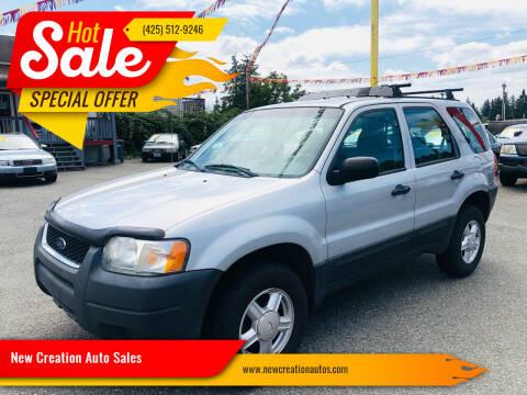2004 Ford Escape for sale at New Creation Auto Sales in Everett WA