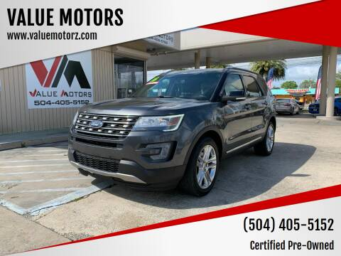 2016 Ford Explorer for sale at VALUE MOTORS in Kenner LA