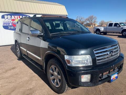 2005 Infiniti QX56 for sale at Praylea's Auto Sales in Peyton CO