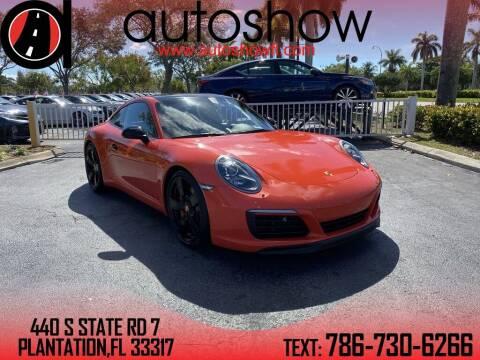 2017 Porsche 911 for sale at AUTOSHOW SALES & SERVICE in Plantation FL