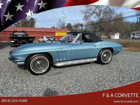 1966 Chevrolet Corvette for sale at F & A Corvette in Colonial Beach VA