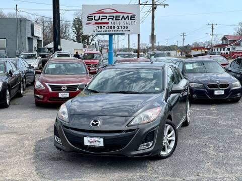 2011 Mazda MAZDA3 for sale at Supreme Auto Sales in Chesapeake VA