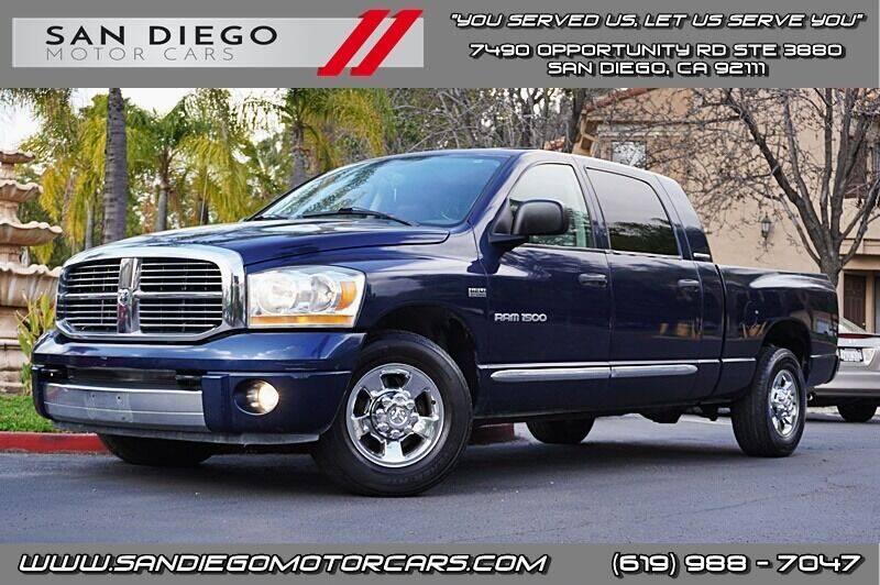 2006 Dodge Ram Pickup 1500 for sale at San Diego Motor Cars LLC in San Diego CA
