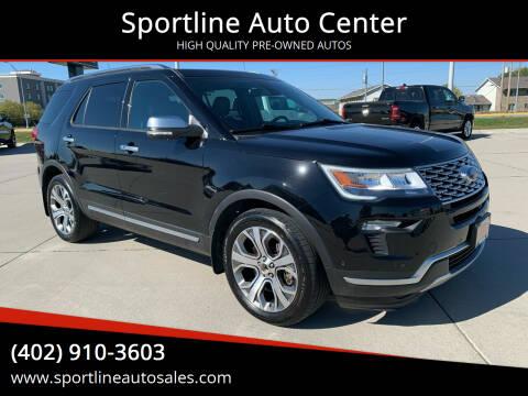 2018 Ford Explorer for sale at Sportline Auto Center in Columbus NE