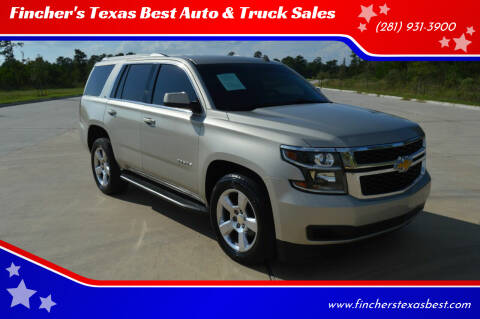 2015 Chevrolet Tahoe for sale at Fincher's Texas Best Auto & Truck Sales in Tomball TX