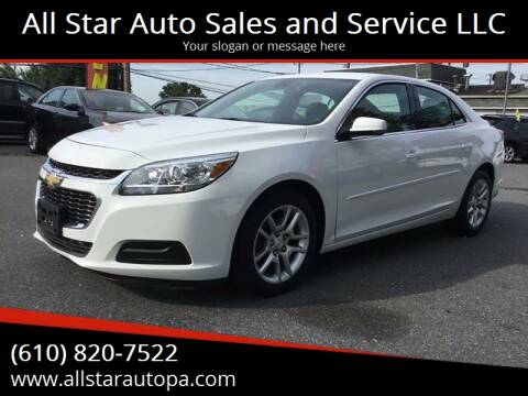 2015 Chevrolet Malibu for sale at All Star Auto Sales and Service LLC in Allentown PA