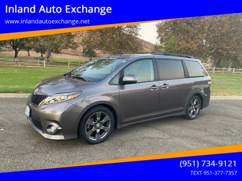 2017 Toyota Sienna for sale at Inland Auto Exchange in Norco CA
