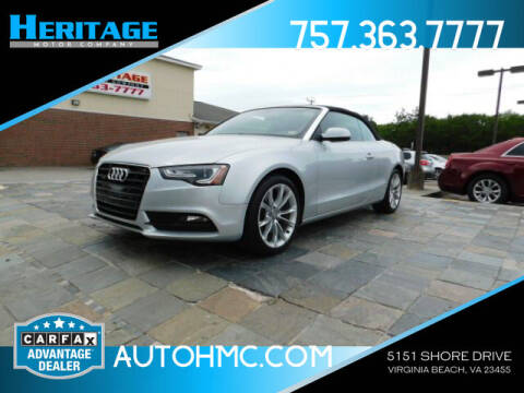 2014 Audi A5 for sale at Heritage Motor Company in Virginia Beach VA