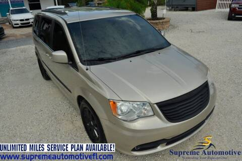 2014 Chrysler Town and Country for sale at Supreme Automotive in Land O Lakes FL