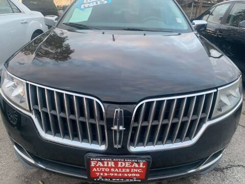 2010 Lincoln MKZ for sale at FAIR DEAL AUTO SALES INC in Houston TX