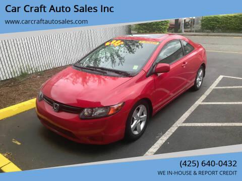 2008 Honda Civic for sale at Car Craft Auto Sales Inc in Lynnwood WA