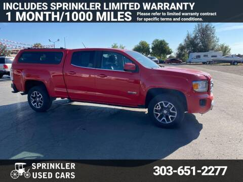 2016 GMC Canyon for sale at Sprinkler Used Cars in Longmont CO