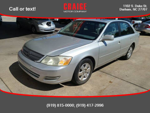 2002 Toyota Avalon for sale at CRAIGE MOTOR CO in Durham NC