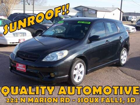 2007 Toyota Matrix for sale at Quality Automotive in Sioux Falls SD
