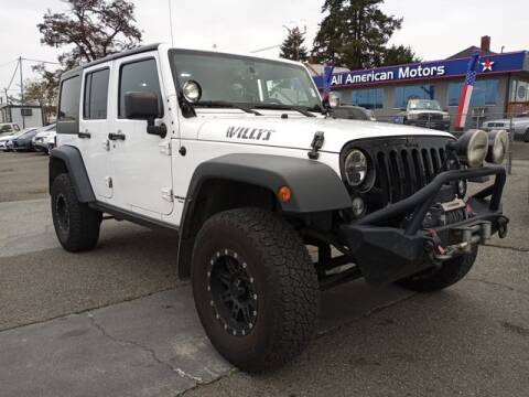 2014 Jeep Wrangler Unlimited for sale at All American Motors in Tacoma WA