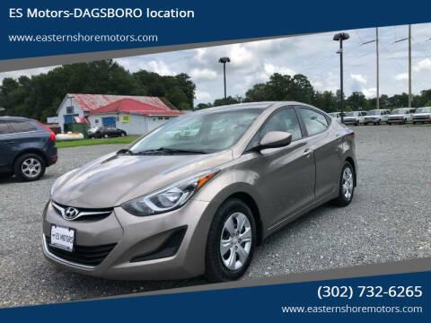 2016 Hyundai Elantra for sale at ES Motors-DAGSBORO location in Dagsboro DE