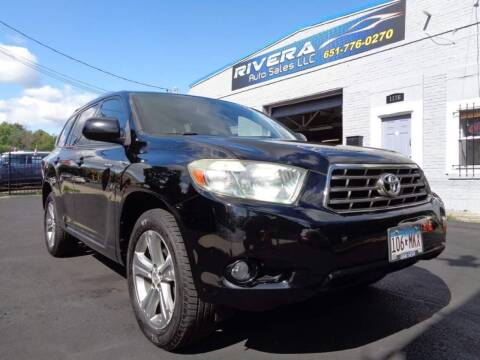 2008 Toyota Highlander for sale at Rivera Auto Sales LLC in Saint Paul MN