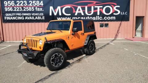 2012 Jeep Wrangler for sale at MC Autos LLC in Pharr TX