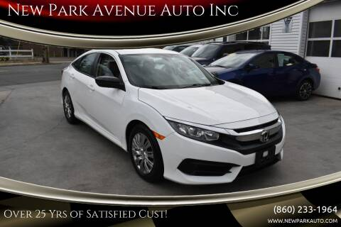 2017 Honda Civic for sale at New Park Avenue Auto Inc in Hartford CT