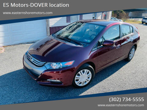 2011 Honda Insight for sale at ES Motors-DAGSBORO location - Dover in Dover DE