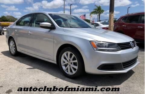 2014 Volkswagen Jetta for sale at AUTO CLUB OF MIAMI in Miami FL