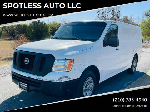 2012 Nissan NV Cargo for sale at SPOTLESS AUTO LLC in San Antonio TX