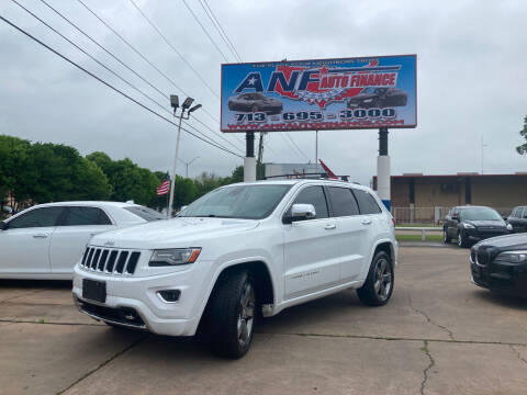 2014 Jeep Grand Cherokee for sale at ANF AUTO FINANCE in Houston TX