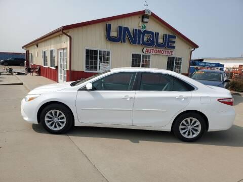 "2015 Toyota Camry for sale at UNIQUE AUTOMOTIVE ""BE UNIQUE"" in Garden City KS"