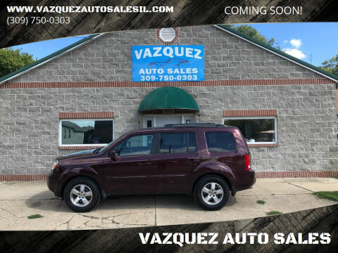2010 Honda Pilot for sale at VAZQUEZ AUTO SALES in Bloomington IL